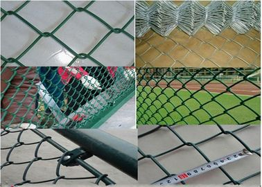 China Q195 Portable 2.5mm Thicks Chain Link Fence 2x2 Colored Galvanized PVC Coated Diamond supplier