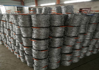 China 12 # * 14 # Diameter  Hot Dip Galvanized Barbed Wire With Stab For Protection Fence supplier