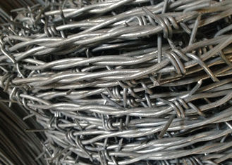 China 12 #  x 14 #  Electric Galvanized Barbed Wire for Farm Fencing supplier