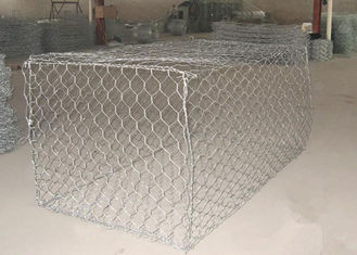China 1 x 1 x 1m Heavy Zinc / Gray  Coated  Woven Gabion Box  with 4 . 0 Wire Daimeter supplier