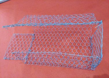 China 2m * 1m * 1m Galvanized Woven Gabion Box With 2.7mm 3.05mm Wire Anti - Crossion supplier