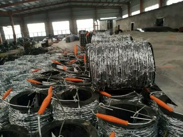 China 2mm * 2mm  1.6mm * 1.6mm Galvanized Barbed Wire, Hot Dip Galvanized Iron Wire Fence supplier
