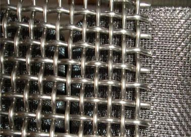 China 304 Stainless Steel lain Weave Crimped Mesh 2mm * 30mm * 30mm Used For Construction supplier