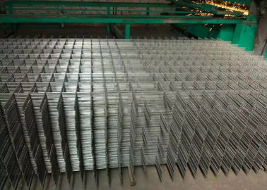 China Solid Weldeding Wire Lattice Panels , Black Square Flat Surface Steel Grid Panels supplier