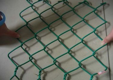 China Green Galvanized Steel Wire Chain Link Fence 4.5mm Plain Woven For Protection supplier