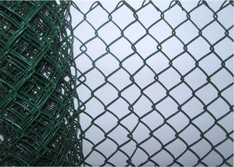 China 8 Foot Residential Chain Link Fence , Portable Protective Mild Steel Galvanized Iron Wire Fence supplier