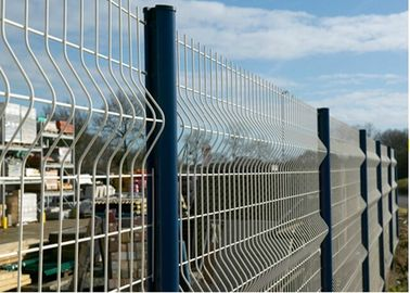 China 4 mm Diameter Wire Mesh Fence PVC Coating Steel Green  For Airport Security supplier
