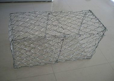 China Gabion Basket Galvanized Gabion Box Retaining Wall With 2.7mm 3.05mm Wire Anti - Crossion 2m * 1m * 1m supplier
