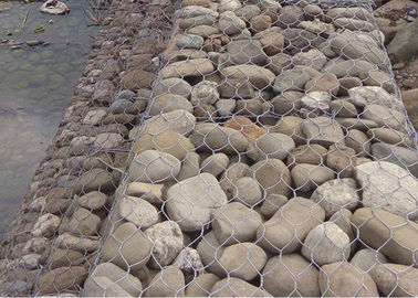China 2m x 1m x 1m Twist Galvanized Gabion Box 80mm × 200mm Mesh Size for Stone Cages supplier