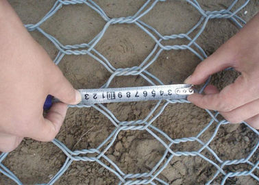 China Heavy Zinc Stone Cages For Retaining Walls , Gabion Wire Mesh 3.5 Wire Daimeter supplier