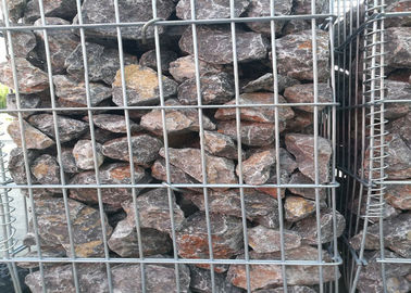 China Square / Oblong Hole Galvanized Gabion Box , Welded Gabion Wall Cages 1 X 1 X 1 M supplier