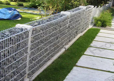 China Welded Hot-dipped Galvanized Gabion Box / Rock Cage Retaining Wall Economic supplier