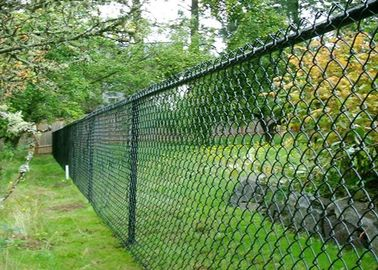 China Green Chain Link Mesh Fecing Size 100 ft Chain Link Fence For Construction supplier