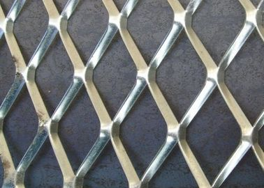 China Galvanized Aliminum Expaned Flattened Mesh Weave 50mm*50mm*2.5mm Strength supplier