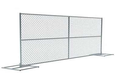 China Portable 6 FT X 10 FT Temporary Chain Link Fence Panels , Temporary Privacy Fence supplier