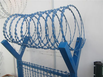 China 450mm Diameter PVC Coated Concertina Razor Barbed Wire BTO - 22 Type supplier