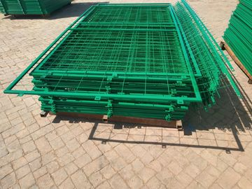 China 50*150mm Hole Pvc Coated Frame Welded Wire  Mesh Fence for Warehouse supplier