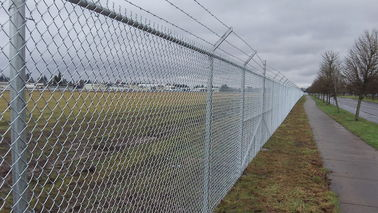 China 4mm PVC Coated Galvanized Chain Link Fence System Airport Fence 3m High supplier
