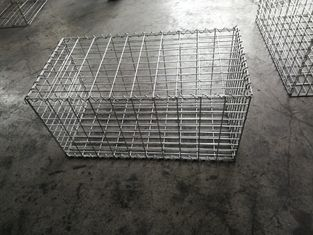 China 1mx0.5mx0.5m Gabion Mesh Cages , Building Gabion Baskets With 5 MM Thickness supplier