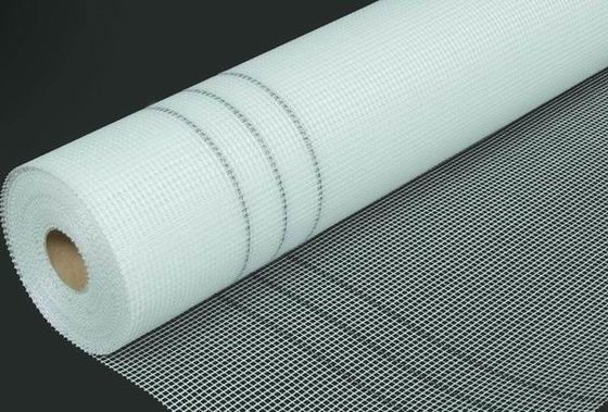 China 5 * 5mm 120g / M2 Adhesive Fiberglass Mesh For Wall Reinforcing supplier