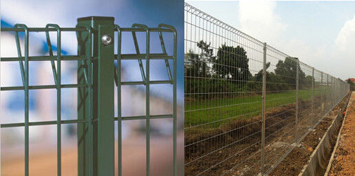 China Roll Top BRC Welded Wire Mesh Fence Panels Galvanized / Powder Coated supplier