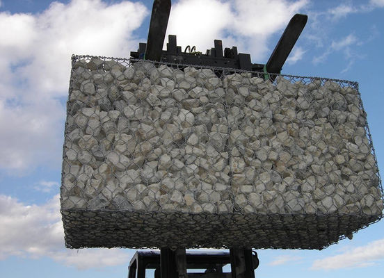 China Galvanized Gabion Cages For Rock Retaining Walls , Wire Gabion Baskets 1m*1m*1m supplier