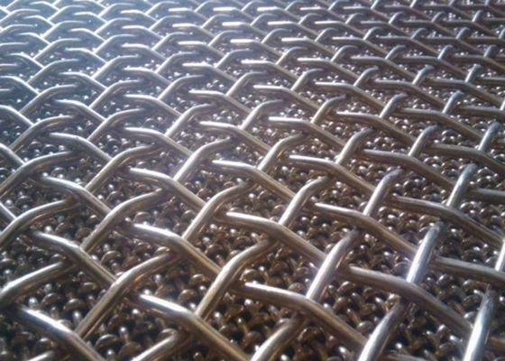 China Durable 65 Mn Crimped Woven Wire Mesh , Mining Screen Mesh 1.0m Width supplier