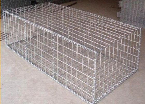 China Galfan 50CM*1M*1M*80MM*100MM Hesco Barrier Gabion Box / Gabion Stone Cages supplier