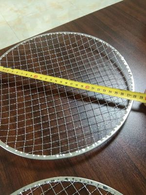 China Construction Crimped Wire Mesh Disposble Barbecue Mesh Net 295mm supplier