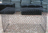 China 1m x 1m x 1m Hexagonal Galvanized Gabion Box With PVC Coated For Flood Bank company