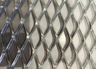 China Heavy Decoration Expanded Metal Wire Mesh , Steel Diamond Mesh 0 . 8 MM Thickness factory