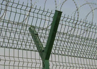 China Plastic Coating Iron Wire Mesh Fence With Razor Barb For Airport company