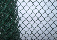 China 8 Foot Residential Chain Link Fence , Portable Protective Mild Steel Galvanized Iron Wire Fence factory