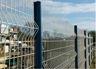 China 4 mm Diameter Wire Mesh Fence PVC Coating Steel Green  For Airport Security company