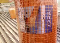 China 10mm * 10mm  * 130g / ㎡ Orange Color Fiberglass Mesh Emulsion Leno Type Suitable For Tunisia factory
