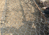 China 2m x 1m x 1m Galvanzied Gabion Box , PVC Coated Galvanized Wall Cages factory