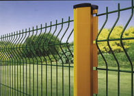 China 50 X 200 MM PVC Coated V Type Welded Wire Mesh Fence for Security and Gardening factory