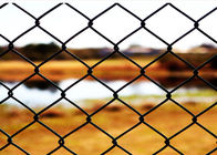 China 6 FT X 10 FT Green PVC Chain Wire Fencing / Chain Length Fence For Protecting factory