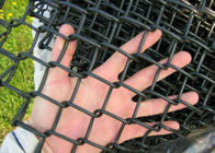China Garden Chain Link Fencing Mesh 2 '' Wire 4 . 0 MM Black  Color 10 ' Height factory