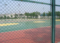 China Green Plastic Coated Chain Link Fencing Low Carbon Steel Wire Material factory