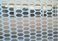 China Hexagonal 1 Inch Hole Perforated Metal Mesh Wind Dust Fence For Decorative factory