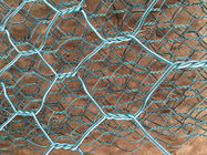 China 3.4mm PVC Coated Gabion Basket Galvanized Gabion Box  2m * 1m * 1m For River Bank Protection factory