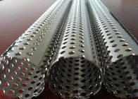 China Round Hole Stainless Steel Perforated Sheet Perforated Pipe Tube For Filter Cylinder factory