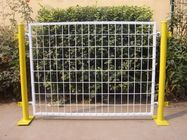China Plastic Coated Temporary Welded Wire Mesh Fence Panels 50*100 MM Mesh Size factory
