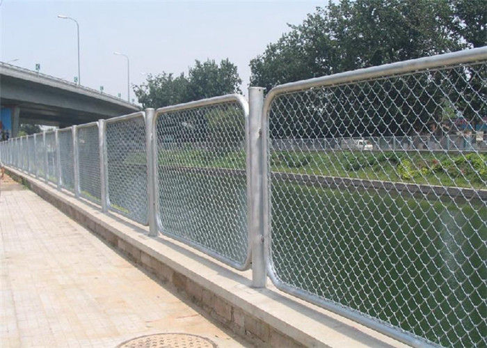 Privacy Vinyl Coated Chain Wire Fencing Panels , 3mm Diameter Galfan ...