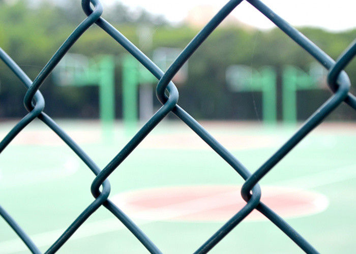 6 Ft Chain Link Yard Fencing , Low Carbon Iron Wire Sports Fence
