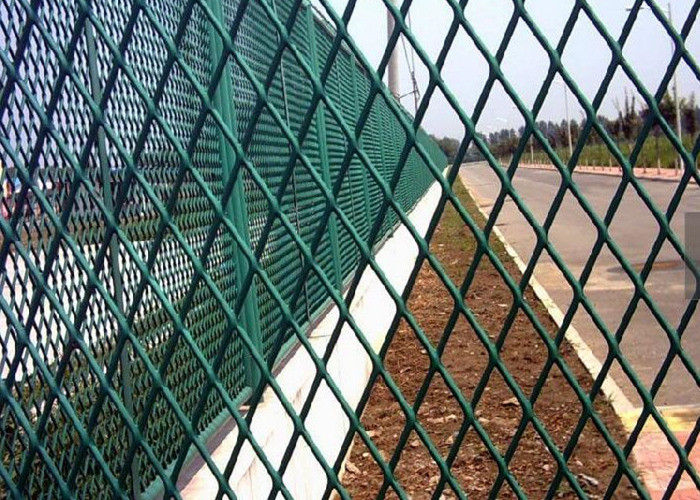 Powder Coating Expanded Metal Screen , Steel Mesh Sheet For Building