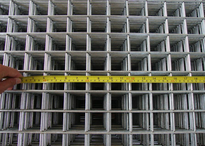 BWG 6 Square Wire Panels Low Carton Steel Silver For Construction