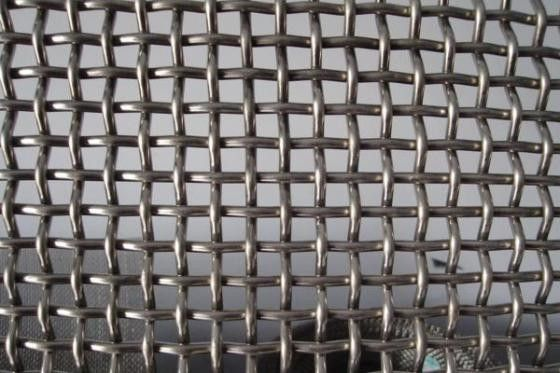 Stainless Steel Crimped Mesh Screen With 3mm Thickness