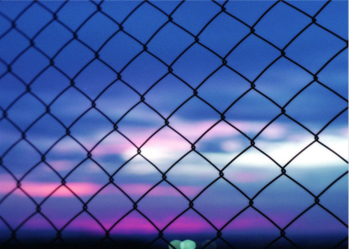 Heavy Duty 5 Green Vinyl Chain Link Fence With 2 Inch